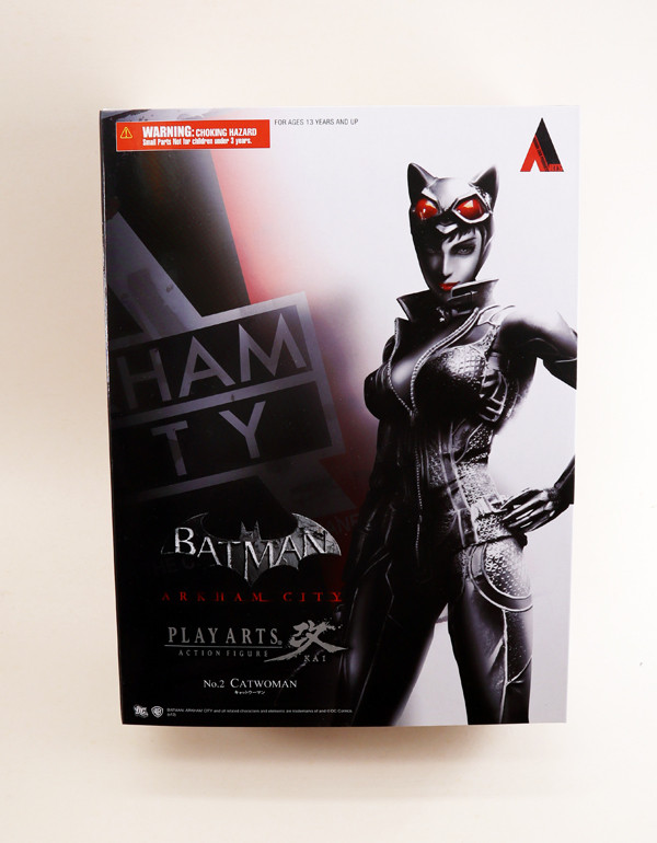 "Arkham City CATWOMAN Play Arts Kai 9/"" Figure Square Enix Batman"