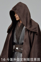 Custom 1/6 Scale Brown Long Cloak w Wire
