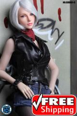 SUPER DUCK SDDX01-C 1/6 Girl Head Sculpt Short Grey Hair - EyeBall Rolling System