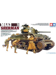 Military Miniature 1/35 US M4A3 Sherman Tank 35250 by Tamiya