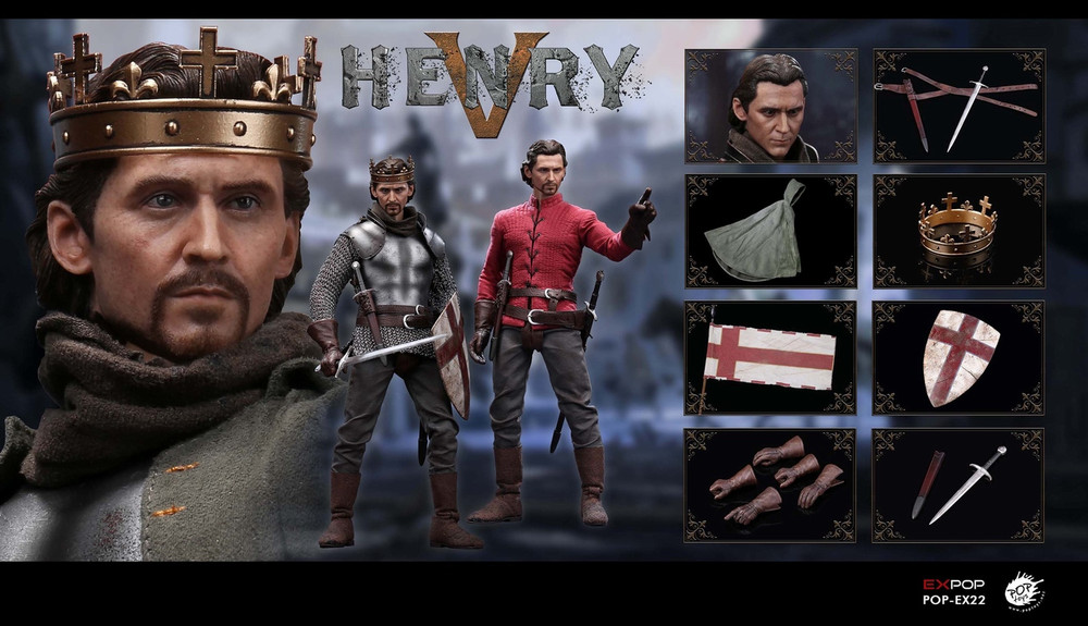 1//6 King Henry V of England Male Action Figure Doll W//2 Heads Collection POPTOYS