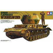 Military Miniature 1/35 German Flakpanzer IV Wirbelwind Tank 35233 by Tamiya