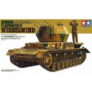 Military Miniature 1/35 German Flakpanzer IV Wirbelwind Tank 35233 by Tamiya