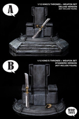 WOO Toys 1/12 Scale King's Thrones + Weapon Set