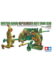 Military Miniature 1/35 British Army 6 Pounder Anti Tank Gun 35005 by Tamiya