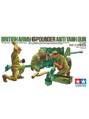 Military Miniature 1/35 British Army 6 Pounder Anti Tank Gun 35005 by Tamiya