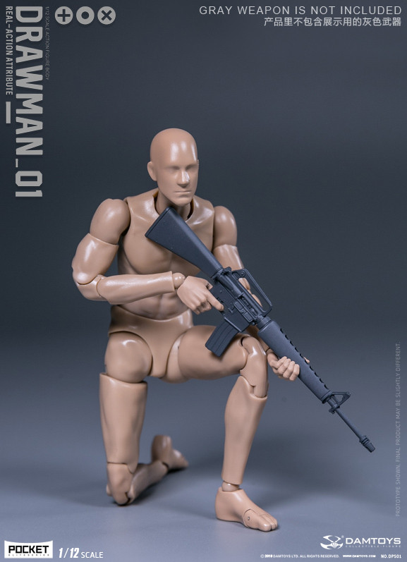 DAM TOYS DPS01 Male DARWMAN 1//12 Action Figure USA SHIPPING