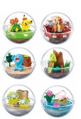 Pokemon Terrarium Collection 6 Pokeball Full Set by Re-ment
