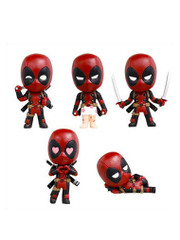 Marvel Deadpool Ichan Gashapon mini Figure Set by Takara Tomy Arts