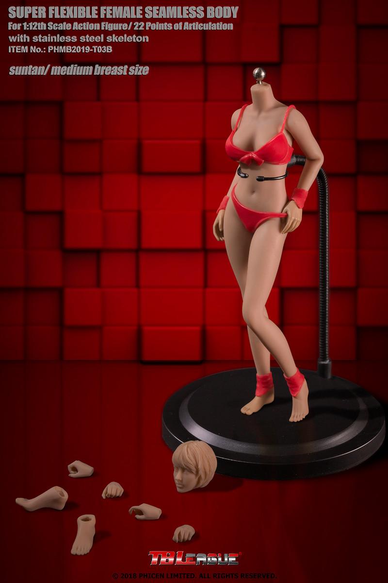 TBLeague 1//12 Girl Body Sutan PHMB2018-T01B Female Figure Action Super Flexible