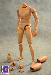 Custom 1/6 Nude Caucasian Action figure Body-Narrow Shoulder Version