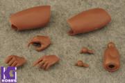 Custom 1/6 Nude African Black Action Figure Body-Narrow Shoulder Version
