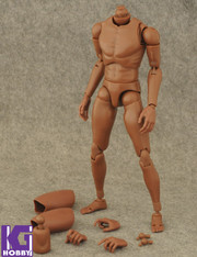 Custom 1/6 Nude African Black Action Figure Body-Narrow Shoulder Version