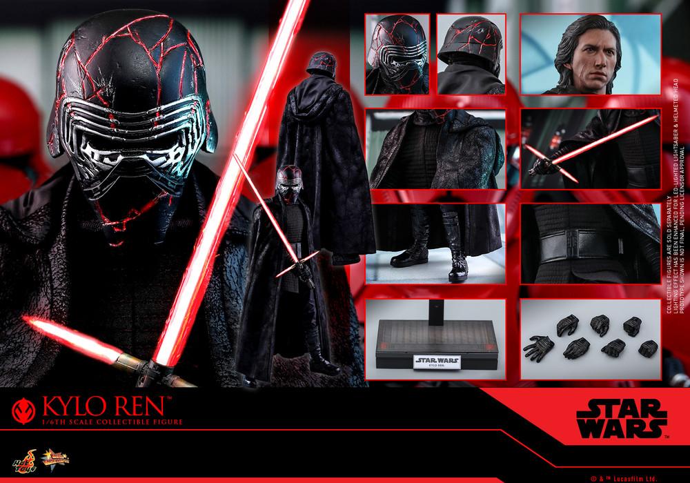 Kylo Ren Hot Toys Mms560 Star Wars The Rise Of Skywalker 1 6 Figure