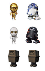 Star Wars Q Droid 02 Gashapon Full set Figure Complete set by Bandai