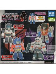 Takara Transformers Bitfig Convoy Jazz Megatron Starscream Capsule Gashapon