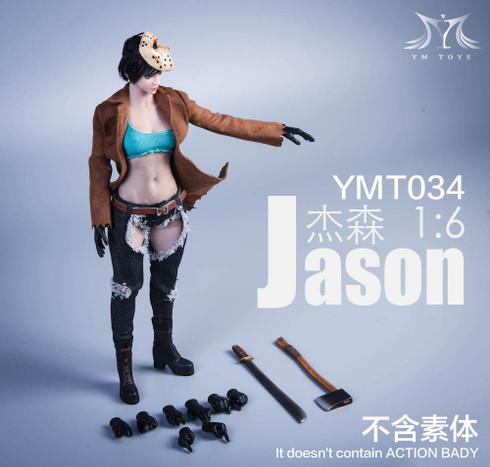 YMTOYS YMT034 Jason 1/6 Girl Head Sculpt & Costume Set