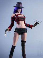 YMTOYS YMT035 Freddy 1/6 Girl Head Sculpt & Costume Set
