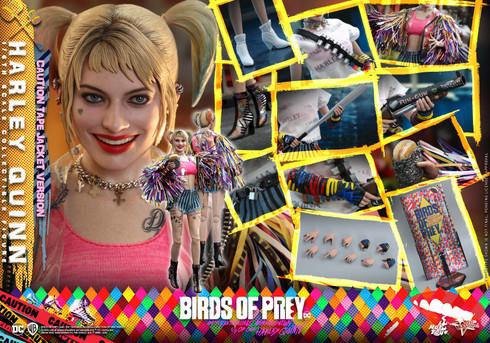 Hot Toys Birds of Prey HARLEY QUINN (CAUTION TAPE JACKET VERSION) MMS566