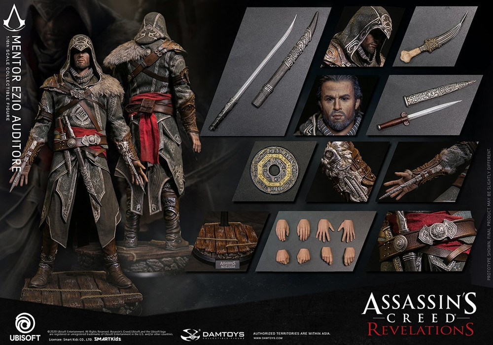 ASSASSIN/'S CREED REVELATIONS EZIO AUDITORE MENTOR ACTION FIGURE MODEL STATUE TOY