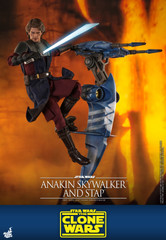 Hot Toys TMS020 Anakin Skywalker and Stap Star Wars The Clone Wars 1/6th scale Collectible Figure
