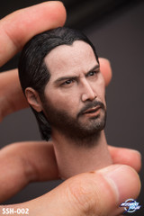 Soosootoys SSH-002 John 1/6 Scale Head Sculpt 2 interchangeable magnetic hair