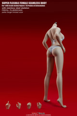 TBLeague S42A 1/6 Pale Skin Large Breast Girls Seamless Body with Metal Skeleton