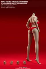 TBLeague S43A 1/6 Suntan Skin Large Breast Girls Seamless Body with Metal Skeleton