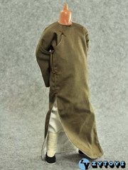 ZY TOYS 1/6 Chinese Kung Fu Costume Outfits: Brown Long Robe with Collar