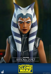 Hot Toys TMS021 AHSOKA TANO Star Wars The Clone Wars 1/6th Scale Collectible Figure
