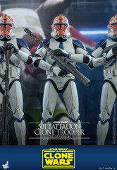 Hot Toys TMS023 501st Battalion Clone Trooper (Deluxe Version) Star Wars The Clone Wars 1/6th Scale Collectible Figure