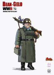 POPTOYS 1/12 Kahn Figure BGS005 Bean Gelo WWII