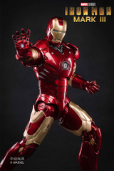 ZD Toys 18cm Iron Man Mark III Figure Light Up Version