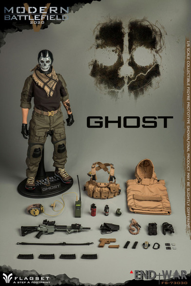 Flagset GHOST 1/6 Scale END WAR V Figure FS-73030