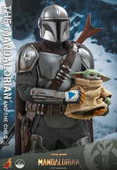 Hot Toys QS016 Star Wars The Mandalorian  1/4th scale The Mandalorian & The Child Collectible Set