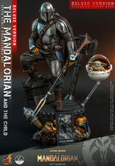 Hot Toys QS017 Star Wars The Mandalorian  1/4th scale The Mandalorian & The Child Collectible Set (Deluxe Version)