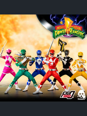 Threezero Mighty Morphin Power Rangers 1:6 Scale Core Rangers + Green Ranger Six-Pack