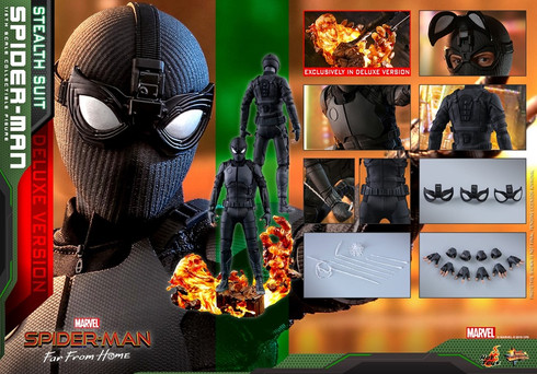Hot Toys Spider-Man (Stealth Suit Deluxe Version)