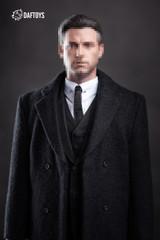 Daftoys F010 1/6 Scale Black Suit + Long Coat Set