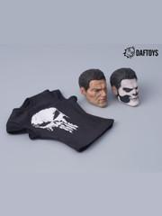 Daftoys 1/6 scale skull heads & t-shirt Set