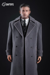 Daftoys F017 1/6 Scale Suit Set + Grey Long Coat