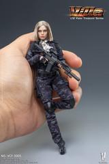 VERYCOOL VCF-3005 1/12 Scale Black MC Camouflage Women Soldier Villa  Palm Treasure Series