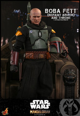 Hot Toys Star Wars: The Mandalorian Boba Fett (Repaint Armor) and Throne 1/6 Collectible Set TMS056