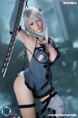 SUPER DUCK 1/6 SET069A Sexy Robot Girl Head Sculpt & Costume Set