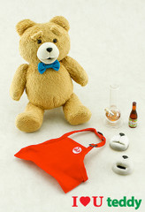 1/6 Ted talking action bear  figure-I LOVE U Teddy