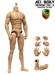 "ACI 1/6 Nude Muscular Action figure Body  Christian ""Medium Built Bodies""   Ver.2 – Caucasian"