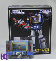 Takara Tomy Transformers Masterpiece MP-13 - Soundwave+Laserbeak with limited coin