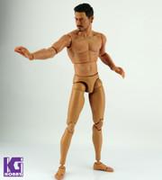 1/6 Scale Custom Muscular Nude action figure body