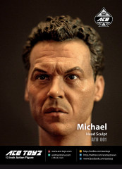 Ace Toyz ATH-001 Mr Michael 1/6 figure head sculpt