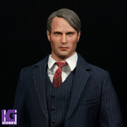 Eleven 1/6 Action Figure Head Sculpt-Mads Mikkelsen Hannibal